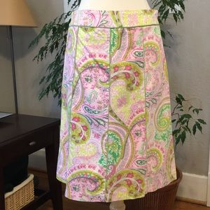 Lilly Pink Green Paisley Print Pencil 6 FLASH SALE